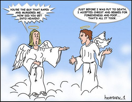 Murderer meets Victim in Heaven