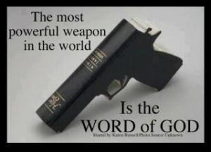 Gun-shaped Holy Bible