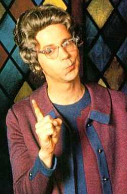 "Dana Carvey's judgmental ""Church Lady"" character. ""Well, isn't THAT special?"""